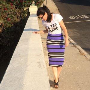 EXPRESS Blue Striped Pencil Skirt Size 2